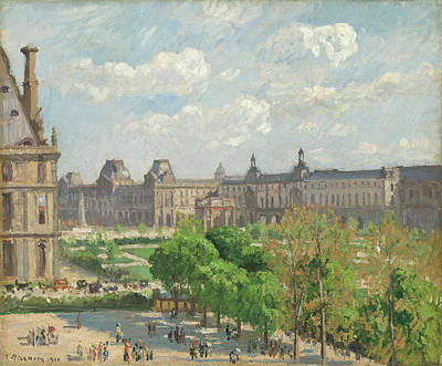 Painting - Place Du Carrousel, Paris by Camille Pissarro