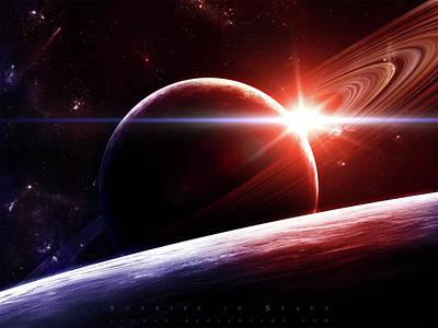 Fantasy Digital Art - Planetary Ring by Super Lovely