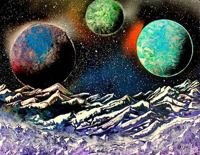 Painting - 3 Planets 4664 E by Greg Moores