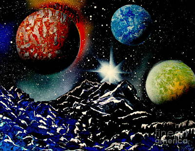 Painting - 3 Planets 4687 E by Greg Moores