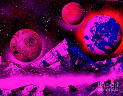 Painting - 3 Planets 5653 - E2 by Greg Moores