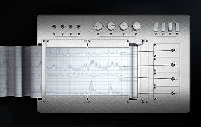 Polygraph Lie Detector Machine Art Print by Allan Swart