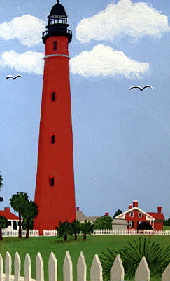 Painting - Ponce Inlet Lighthouse by Frederic Kohli