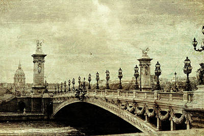 Photograph - Bridge Through Paris by JAMART Photography