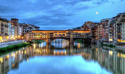Photograph - Ponte Vecchio, Florence, Firenze, Italia by Elenarts - Elena Duvernay photo