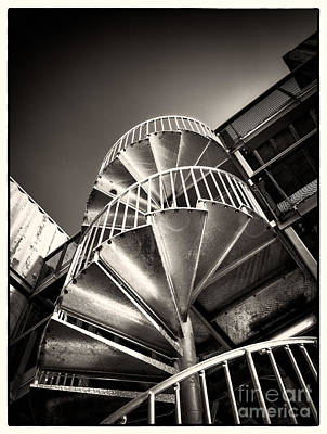 Photograph - Pop Brixton - Spiral Staircase - Industrial Style by Lenny Carter