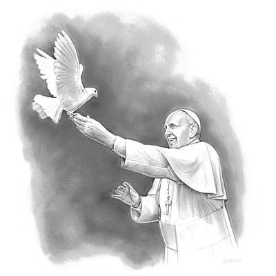 Pope Francis Original by Greg Joens