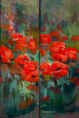 Poppies  Original by Dorina Costras