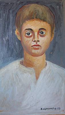 Painting - Portrait Of A Boy by George Siaba