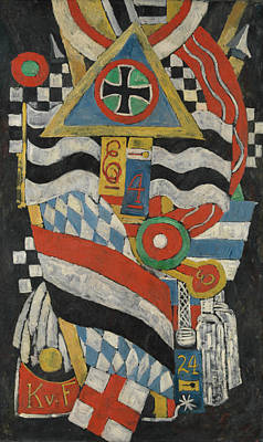 Portrait Of A German Officer Art Print by Marsden Hartley