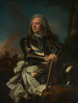 Painting - Portrait Of A Military Officer by Hyacinthe Rigaud