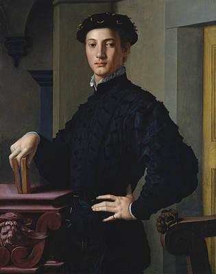 Portrait Of A Young Man Art Print by Agnolo Bronzino