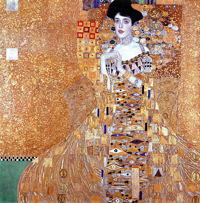 Adele Wall Art - Painting - Portrait Of Adele Bloch-bauer I by Gustav Klimt