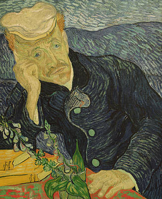 Book Jacket Painting - Portrait Of Dr Gachet by Vincent van Gogh