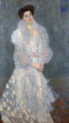 Boa Constrictor Painting - Portrait Of Hermine Gallia by Gustav Klimt