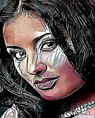 portrait woman  - My WWW vikinek-art.com Art Print by Viktor Lebeda