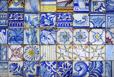 Handcrafted Photograph - Portuguese Tiles by Carlos Caetano