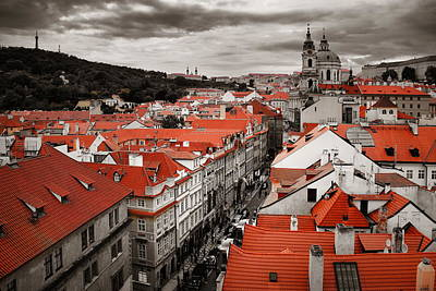 Photograph - Prague Skyline Rooftop View Dome by Songquan Deng
