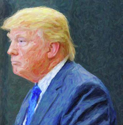 Donald Trump Painting - President Donald Trump by Celestial Images