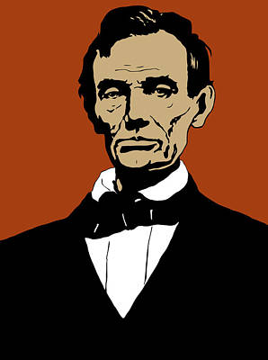 Abe Mixed Media - President Lincoln by War Is Hell Store