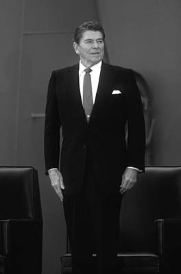 Dutch Photograph - President Ronald Reagan by War Is Hell Store