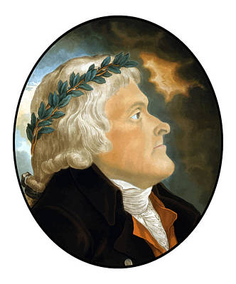 President Painting - President Thomas Jefferson by War Is Hell Store
