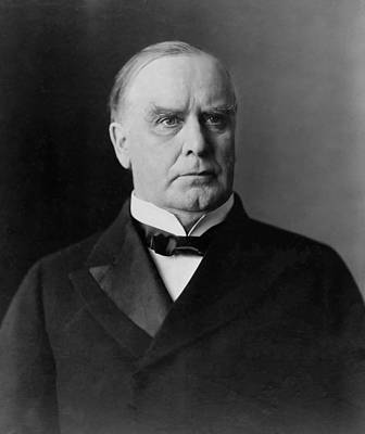 Patriot Mixed Media - President William Mckinley by War Is Hell Store
