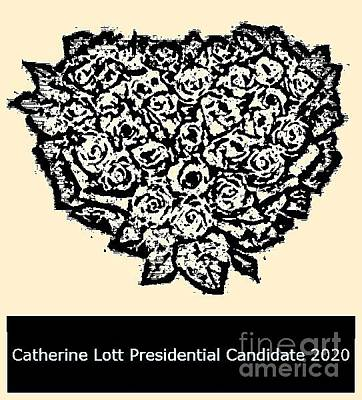 Painting - Presidential Candidate Catherine Lott 2020 by Catherine Lott