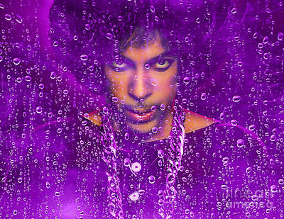Mixed Media - Prince Purple Rain Tribute by Marvin Blaine