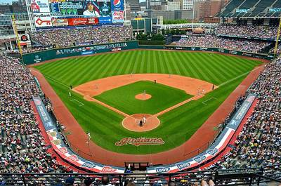 Cory Photograph - Progressive Field by Frozen in Time Fine Art Photography