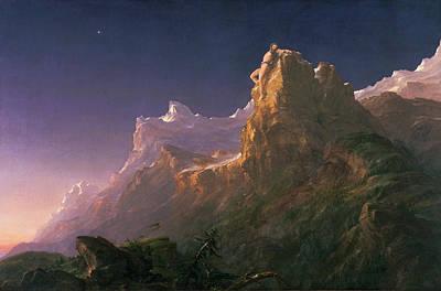 Prometheus Painting - Prometheus Bound by Thomas Cole