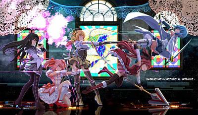 Design Digital Art - Puella Magi Madoka Magica by Super Lovely