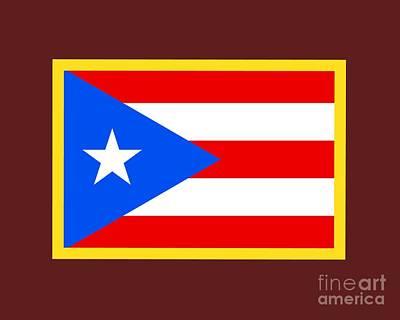 Puerto Rico Flag Art Print