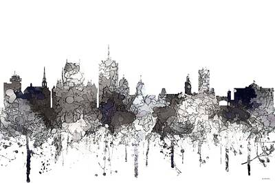 Digital Art - Quebec City Que. Skyline by Marlene Watson