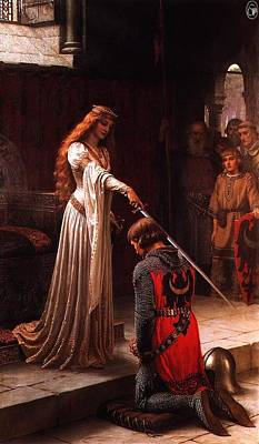 Queen Guinevere And Sir Lancelot Art Print