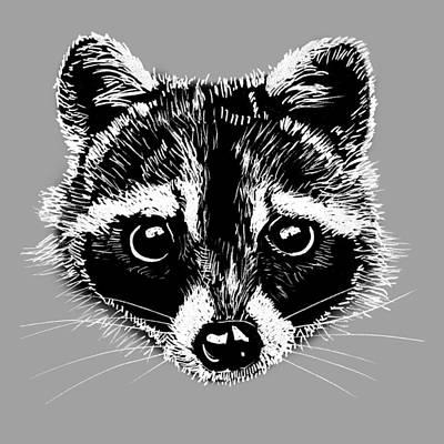 Painting - Raccoon by Masha Batkova