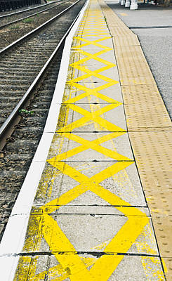 Railway Platform Art Print by Tom Gowanlock