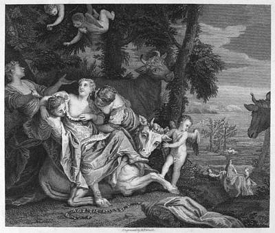 Abduction Photograph - Rape Of Europa by Granger