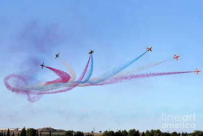Photograph - Red Arrows Aerobatic Team  by George Atsametakis