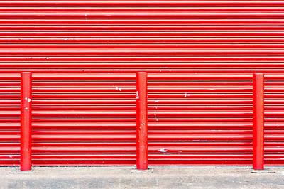 Red Door Art Print by Tom Gowanlock