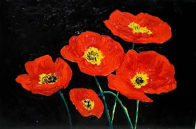 Painting - Red Poppies  by Hae Kim