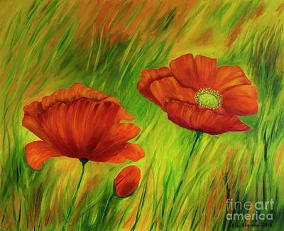 Meadow Painting - Red Poppies IIi by Veikko Suikkanen