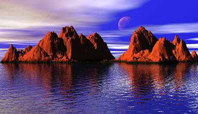 Digital Art - Red Rocks by Manolis Tsantakis