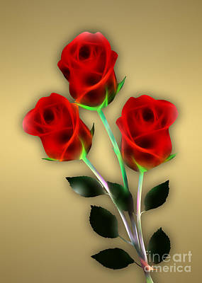 Mixed Media - Red Roses Collection by Marvin Blaine