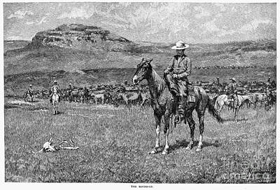 Remington: Cowboy, 1888 Art Print