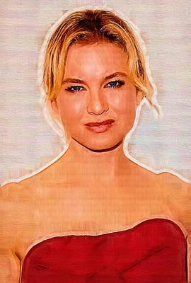 Renee Zellweger Portrait Print by Best Actors
