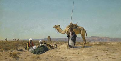 Painting - Rest In The Syrian Desert by Eugen Bracht