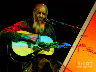 Folk Art Mixed Media - Richie Havens Collection by Marvin Blaine