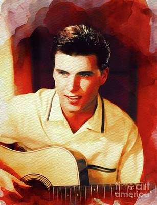 Rock And Roll Paintings - Ricky Nelson, Music Legend by John Springfield