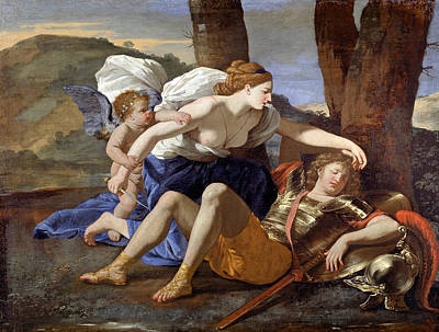 Painting - Rinaldo And Armida by Nicolas Poussin